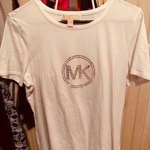 Michael Kors white T-shirt w/ Gold